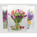 Sacchetto del regalo XL tulipani, lillà e tulipani
