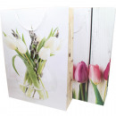 Gift bag 34,5x25cm, tulip design 2-fold sort