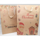 Gift bag nature 'Merry Christmas' 34,5x9cm
