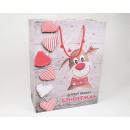 Ajándék táska 'vicces Rudolph' 23x18cm