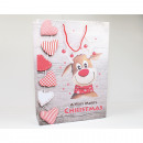 Ajándék táska 'vicces Rudolph' 35x25cm