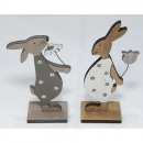 Wooden rabbit XL 14.5x9 / 16.5x8.5cm with wooden f