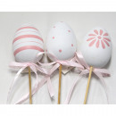 wholesale Garden & DIY store: Painted Easter egg on plug, set of 2 40x7x5cm