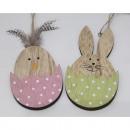ingrosso Home & Living: Appendiabiti pulcino e coniglio in legno 12,3x6,5