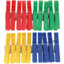 clothespin 20s each 7x1cm colored assorted