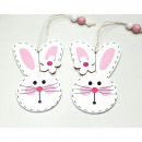 Bunny as a wooden hanger, set of 2!