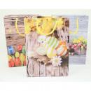 Geschenktasche klein 16x11,5x6cm Ostern 'Holz'