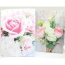 Ajándék táska XL 34,5x25x8,5cm rózsaszínű