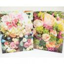 Ajándék táska közepes 23x18x8cm virágcsokrok és cs