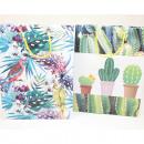 Torba prezentowa średnia 23x18x8cm dżungla i kaktu