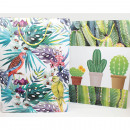 Ajándéktasak XL 34,5x25x8,5cm dzsungel és kaktusz