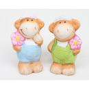 hurtownia Zabawki pluszowe & lalki: Owce z kwiatkami i kolorowe spodnie 7x4cm