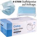 Großhandel Drogerie & Kosmetik: Mund-Nasen-Schutz 3lagig BFE Typ IIR EN14683:2019