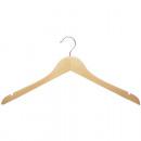 wholesale Dresses: Coat hanger wood open with notch 46x22,5cm