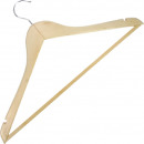 wholesale Decoration: Coat hanger wood with anti-slip 44x23cm