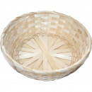 Bast basket natural wide braided