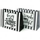 wholesale Gifts & Stationery: Gift bag Enjoy black / white, 23x18cm across