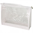 wholesale Travel Accessories: Cosmetic bag XL 23x18x5,5cm transparent white