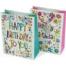 Ajándéktáska Happy Birthday 23x18cm kártyákkal