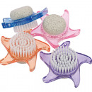 Handwashbrush Elina star with pumice stone 9cm sor