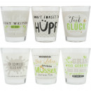 Shot glass 6cl with funny saying 6-way sort