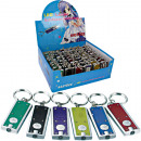 wholesale Keychains: Lamp LED with key holder 6cm colored assorted