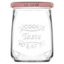 Glas Einmachglas 550ml mit Deckel, 11x8,2cm