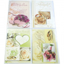 Card Wedding 17x11,5cm Rose motifs assorted