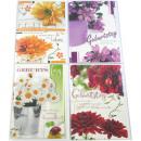 Születésnapi kártya 17x11,5cm virágos motívumok mo