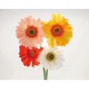wholesale Artificial Flowers: Gerbera 54cm in 4 colors assorted , classic