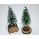 Christmas tree on a log, 11x4cm, 2- times assorted