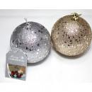 Tree ball glitter stars 8cm gold and silver sortie