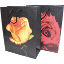 Gift bag 34,5x25cm, Blackdesign 2-fold sorti