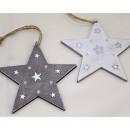 Star hanger made of wood XL 11,5x11,5cm