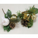 wholesale Artificial Flowers: Decoration 16x10cm with cones 2- times assorted