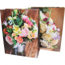 Gift bag 16x11cm, flower bouquet design