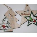 ingrosso Decorazioni: Stella in legno XL 13x13cm, 2- volte assortito