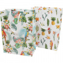 Gift bag 23x18cm, Jungle-Design 2-fold sorti