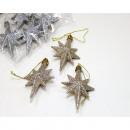 Csillag akasztható 8x5,5cm-es áron, 3 darabkészlet