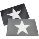 Placemat with big star, 44x 28,5cm