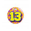 Button klein - ich bin 13