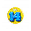 Button klein - ich bin 14
