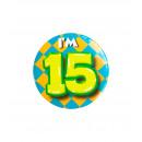 Button klein - ich bin 15