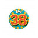 Button klein - ich bin 38