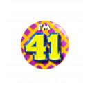 Button klein - ich bin 41