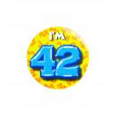 Button klein - ich bin 42