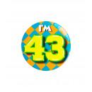 Button klein - ich bin 43