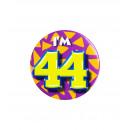 Button klein - ich bin 44