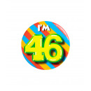 Button klein - ich bin 46