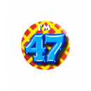 Button klein - ich bin 47